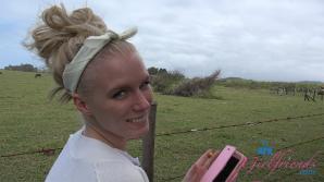Elaina Raye has a great time visiting Haleakala volcano